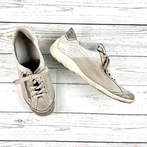 Remonte cream-grey leather shoes